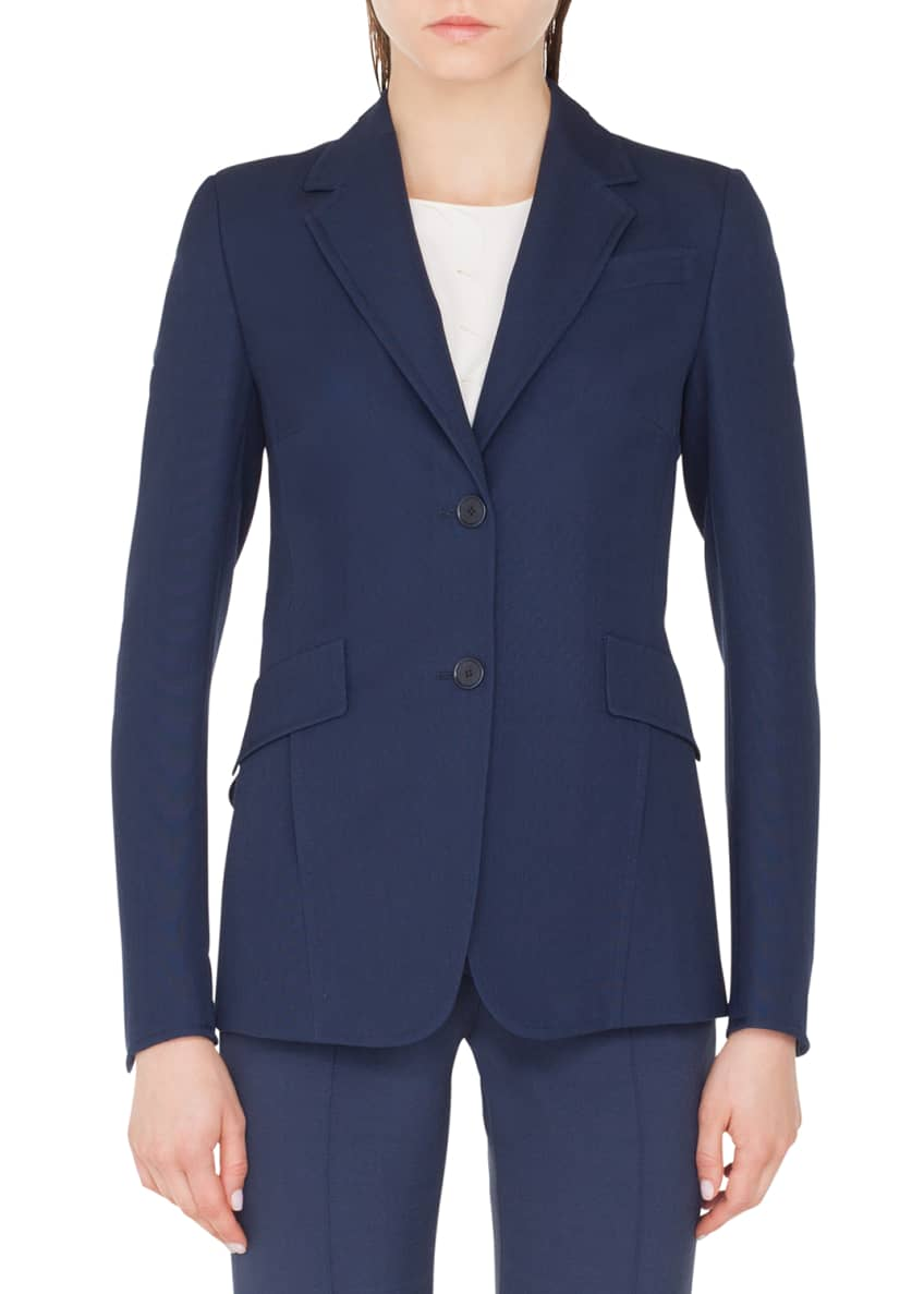 Akris punto Punto Stretch Blazer Jacket with Soft