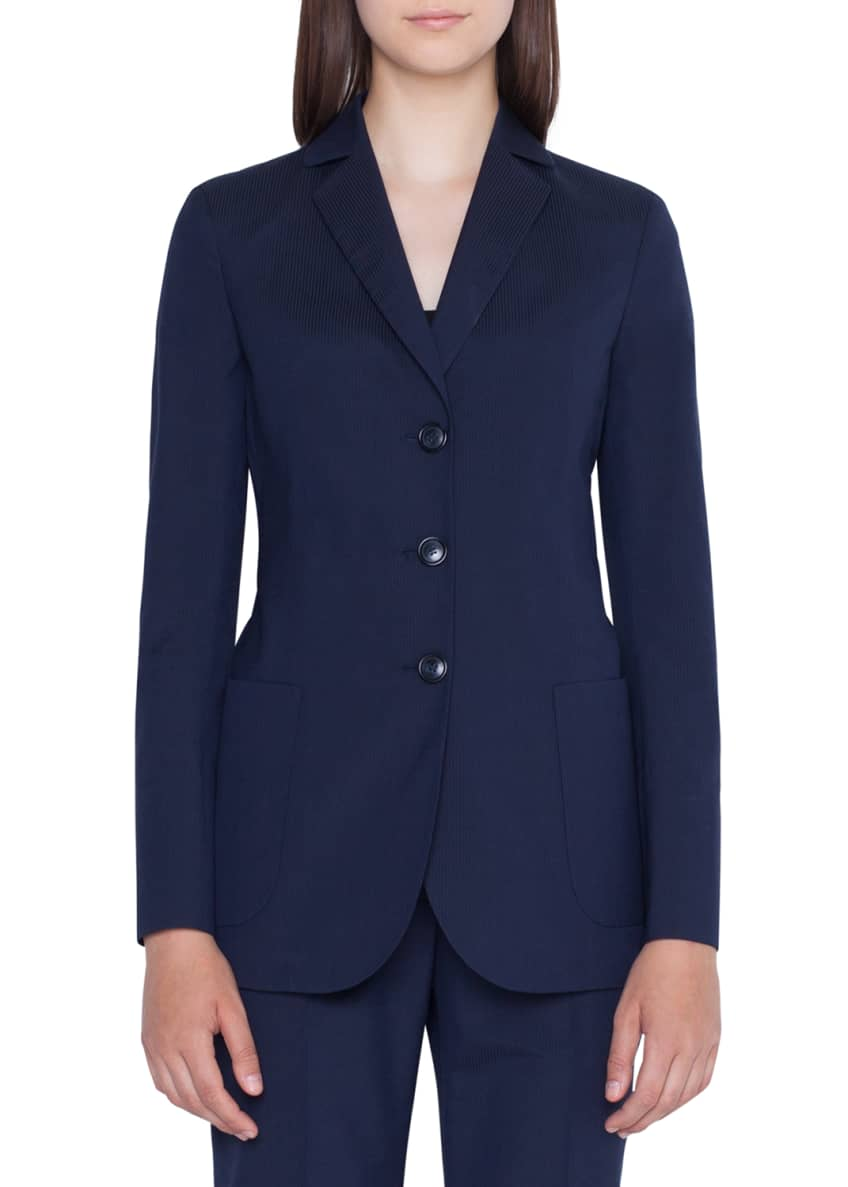 Akris Seersucker Three-Button Blazer & Matching Items