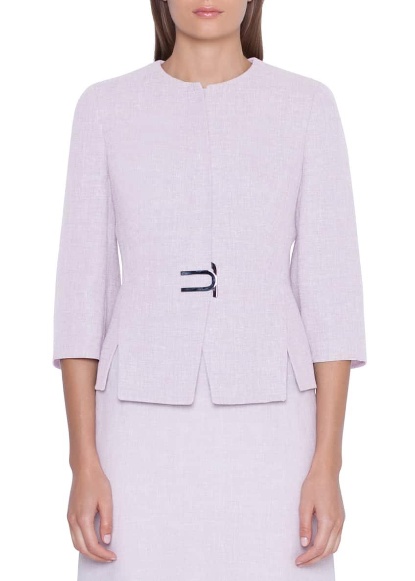 Akris Anais Short Linen-Wool Jacket & Matching Items