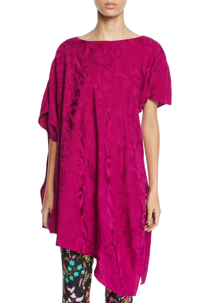 Etro Asymmetric Floral-Jacquard Top & Matching Items