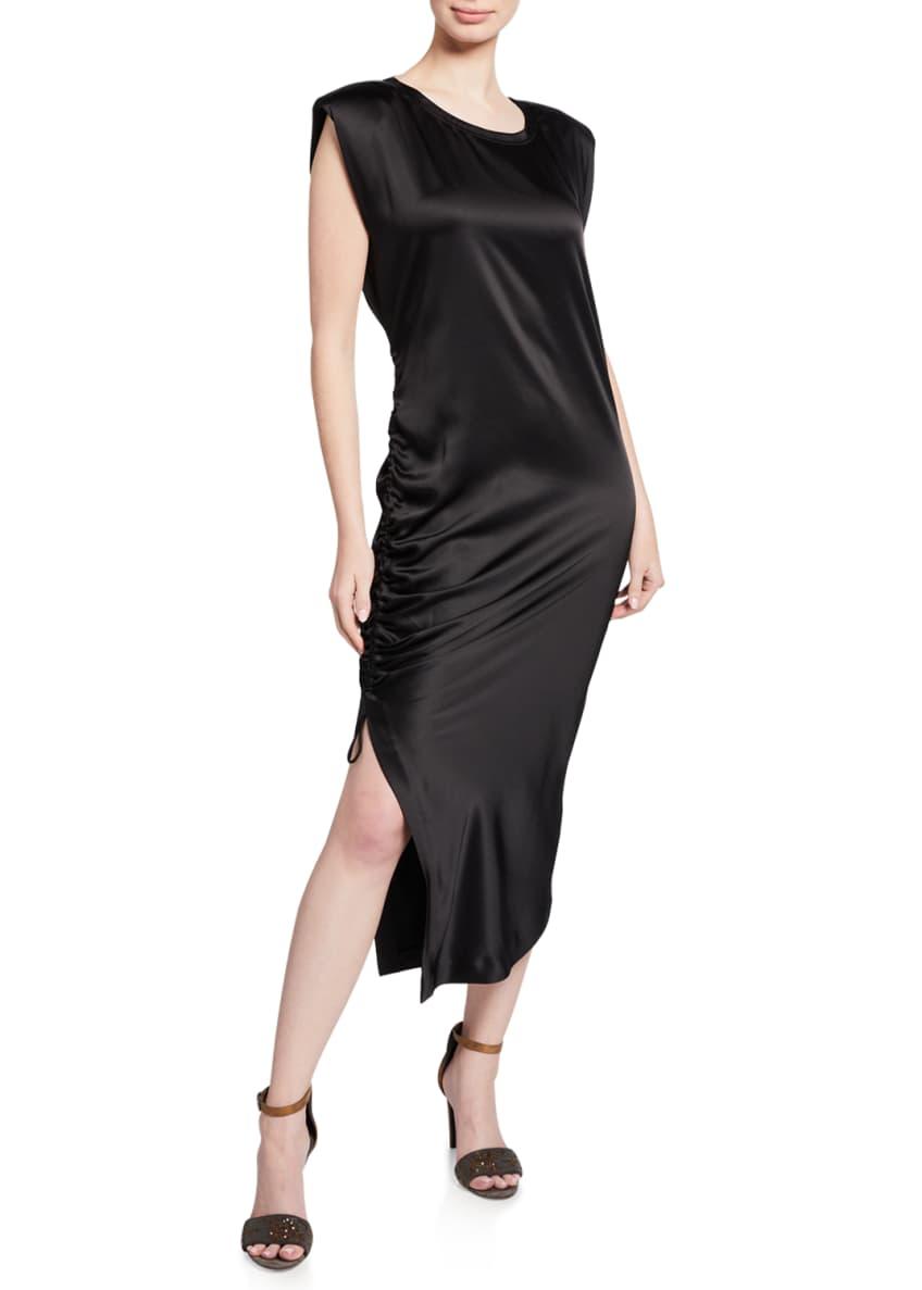 Brunello Cucinelli Ruched Side Sleeveless Dress & Matching