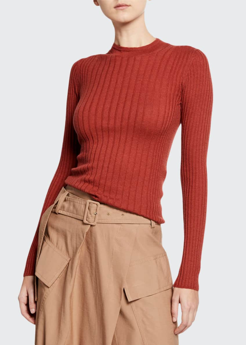 Vince Mixed-Rib Cashmere Sweater & Matching Items
