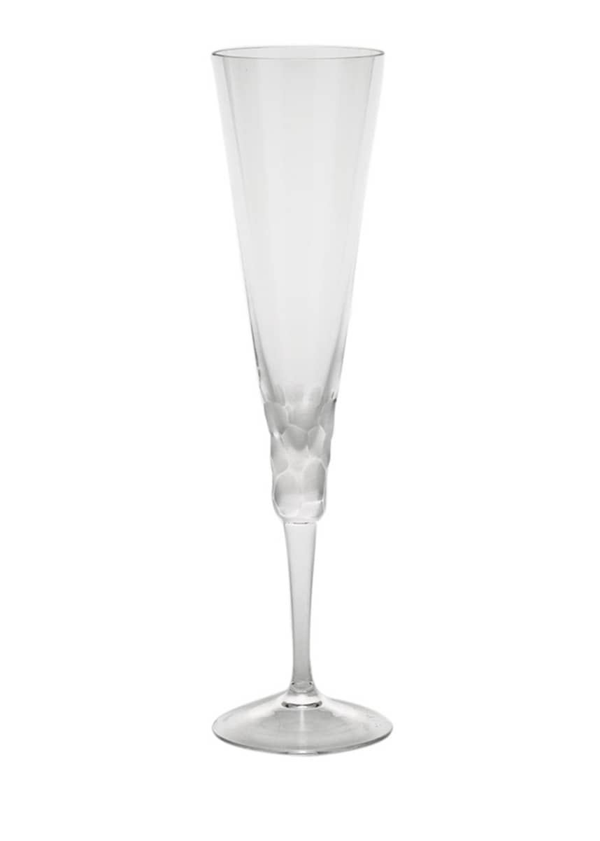 Moser Pebbles Champagne Flute