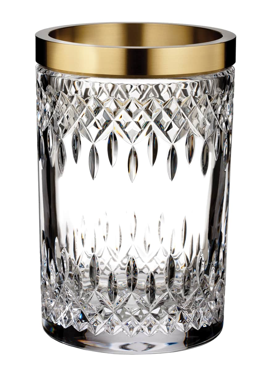 Waterford Crystal Lismore Reflections Gold Band Vase, 8""