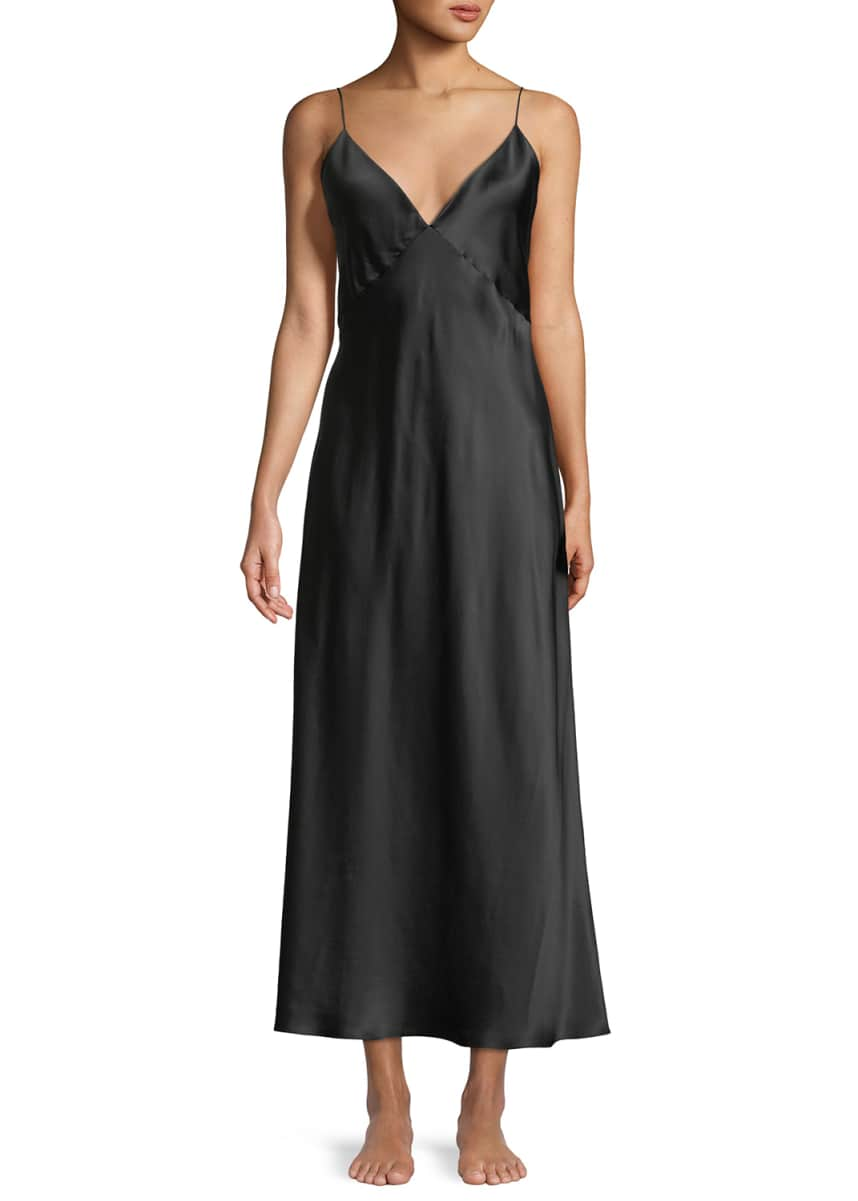 Olivia Von Halle Issa Long Silk Nightgown