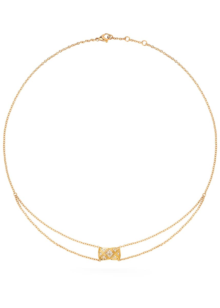 CHANEL COCO CRUSH PENDANT IN 18K YELLOW GOLD AND DIAMONDS