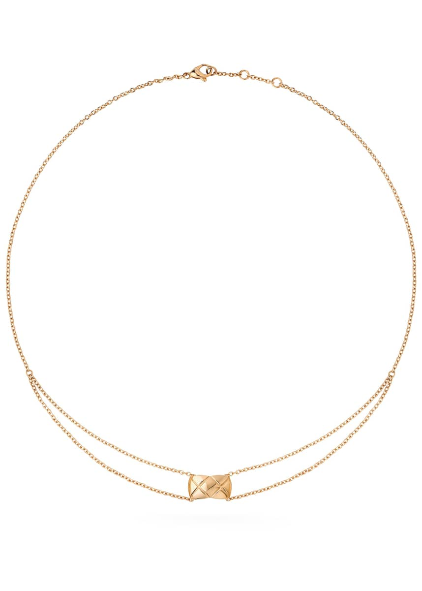 CHANEL COCO CRUSH PENDANT IN 18K BEIGE GOLD