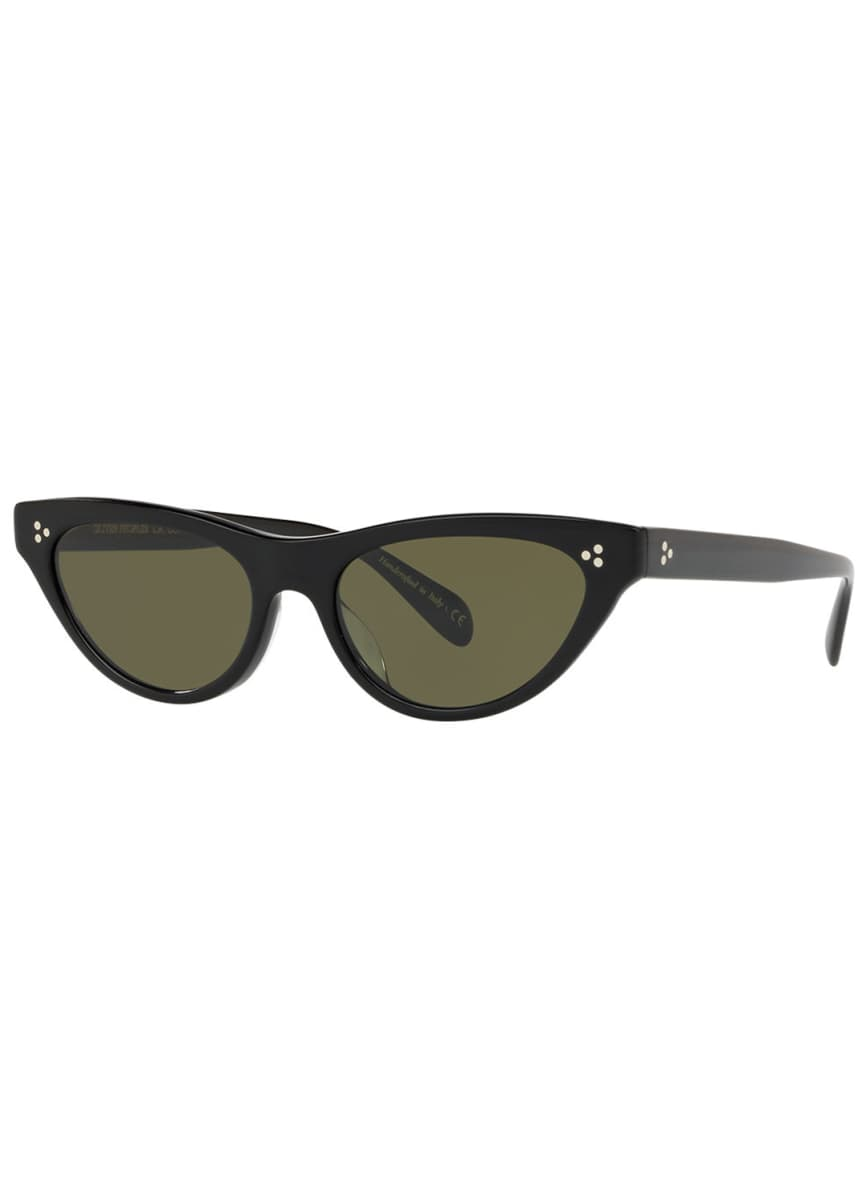 Oliver Peoples Zasia Cat-Eye Acetate Sunglasses w/ Inlaid Studs
