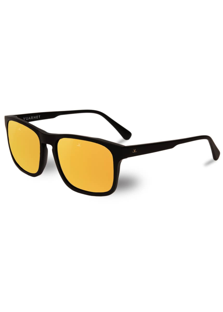 Vuarnet Men's District Large Rectangular Acetate Sunglasses