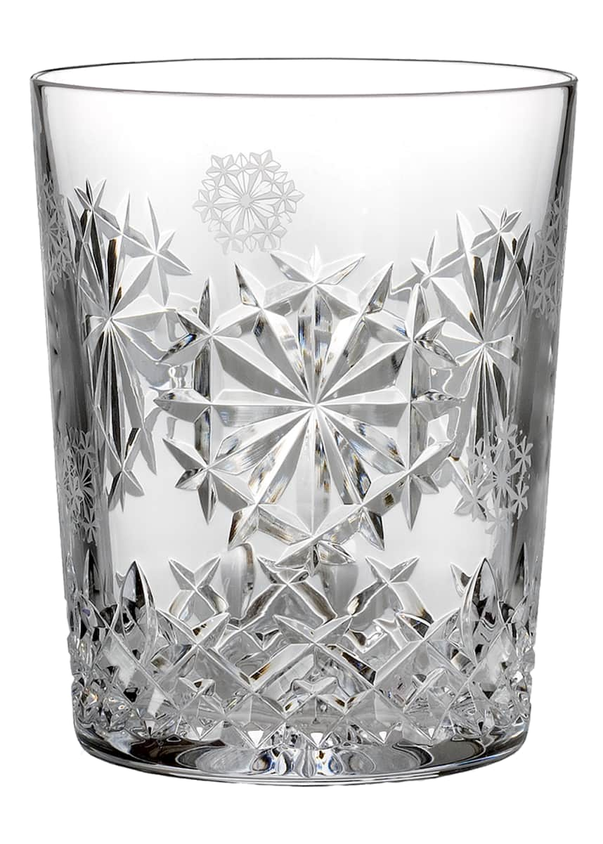 Waterford Crystal Snowflake Wishes Happiness Double Old-Fashioned, Clear