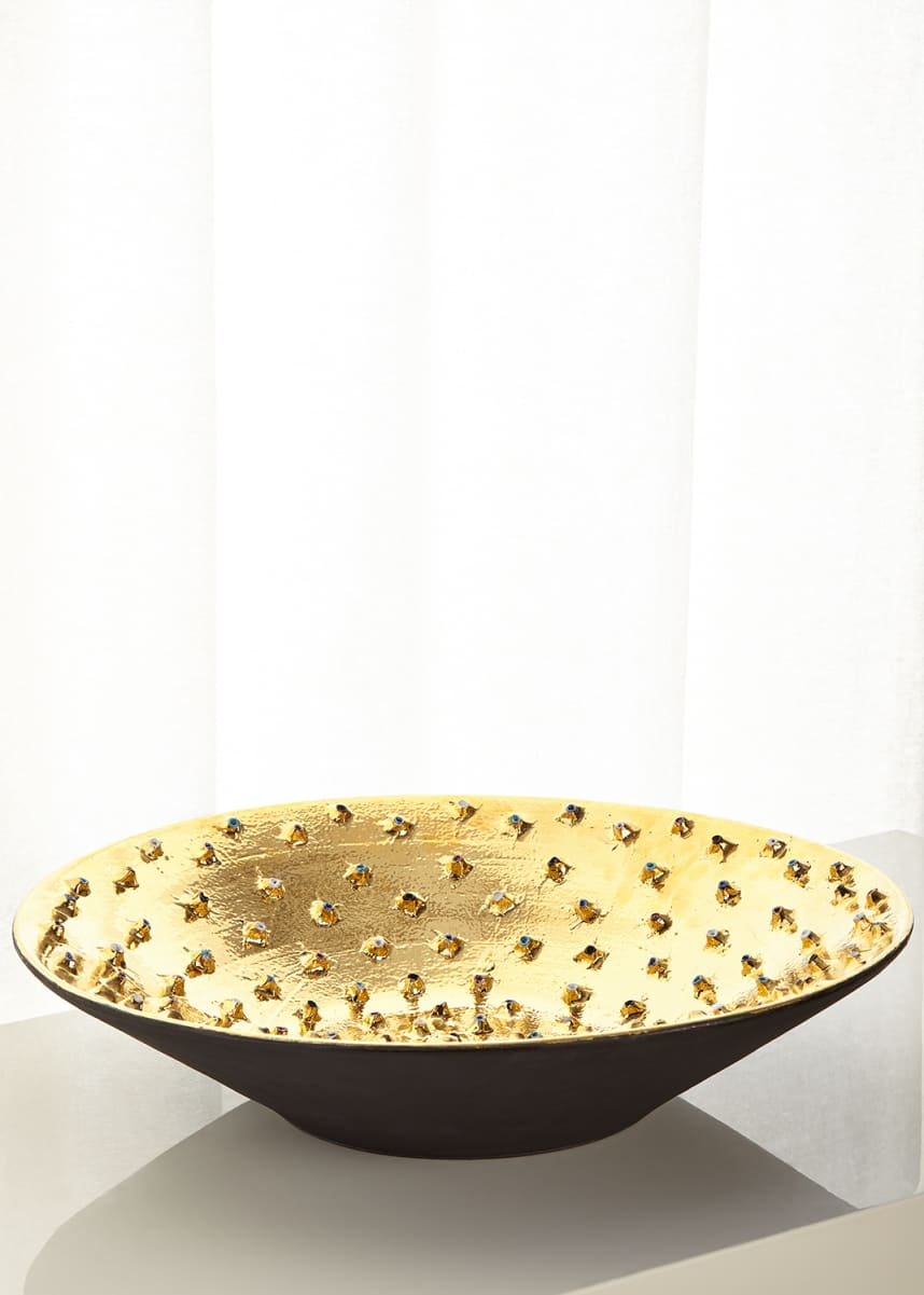 Dolfi Large Golden Bowl