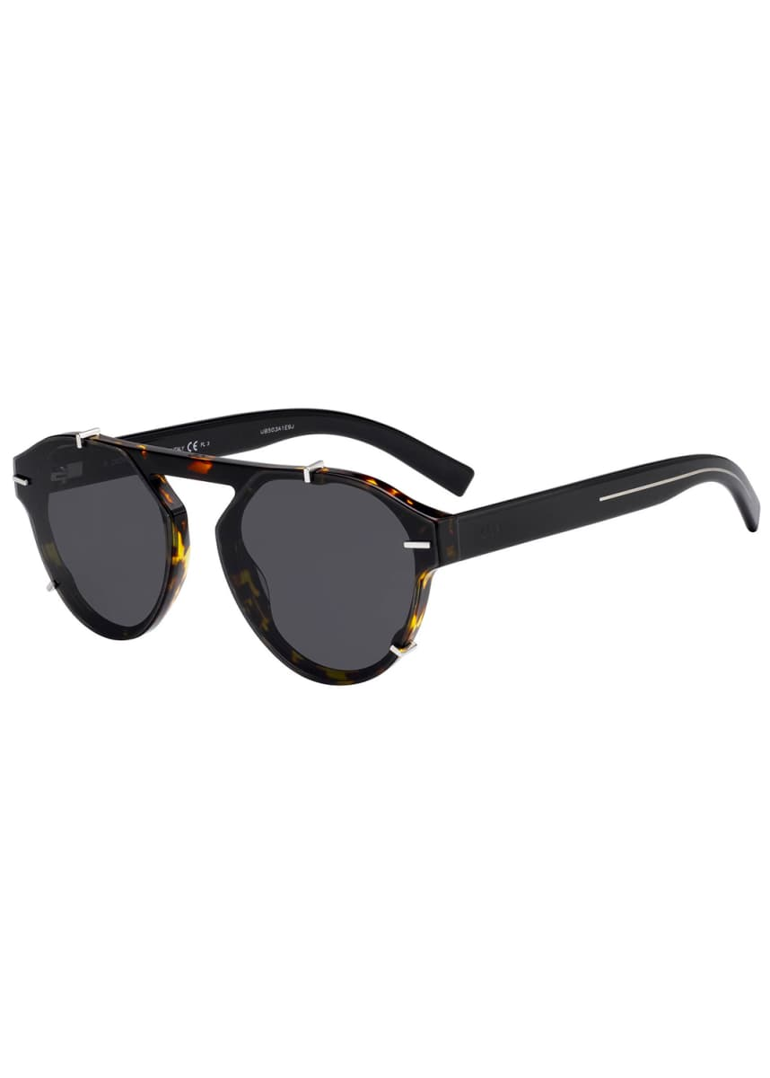 Dior Men's Round Clipped Optyl® Sunglasses