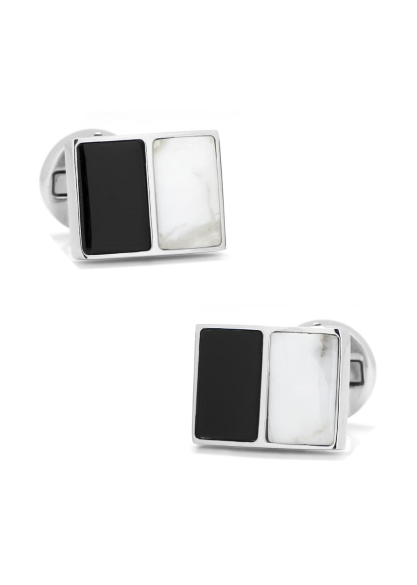 Cufflinks Inc. Jade & Onyx Split Cuff Links