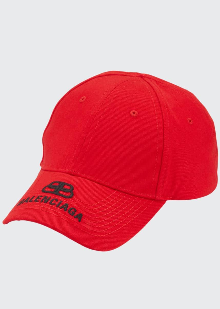 Balenciaga Men's Logo Embroidered Baseball Cap