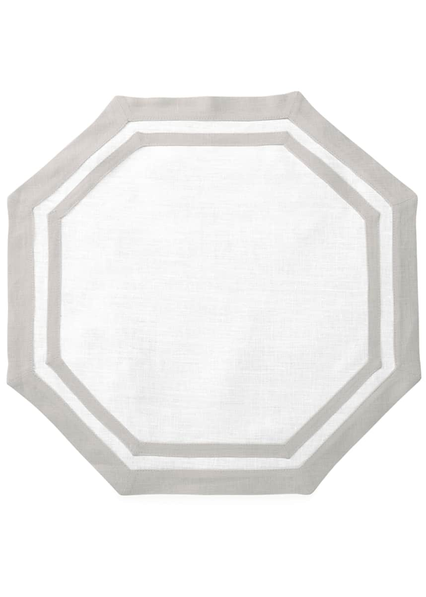 Matouk Casual Couture Octagon Placemats, Set of 4