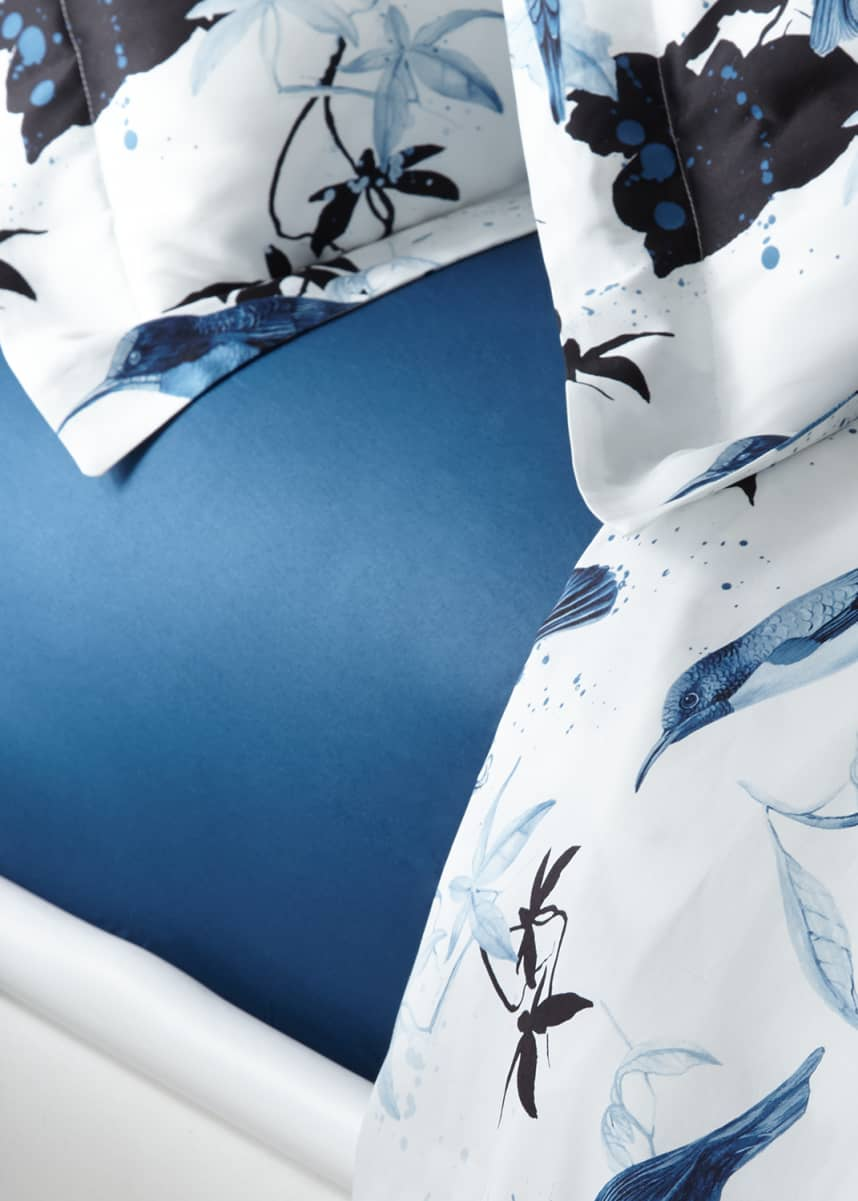 Roberto Cavalli Birds Ramage Queen Fitted Sheet