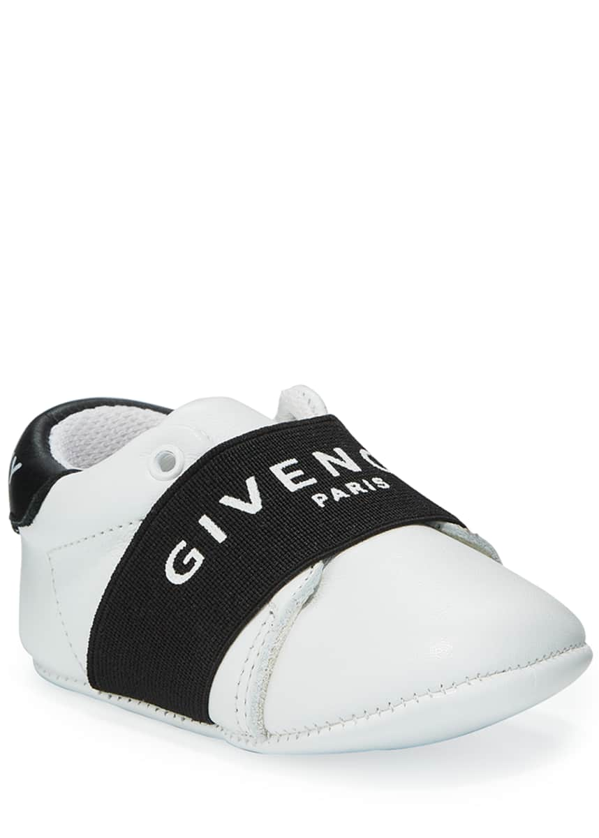 Givenchy Logo Band Leather Crib Sneakers, Baby