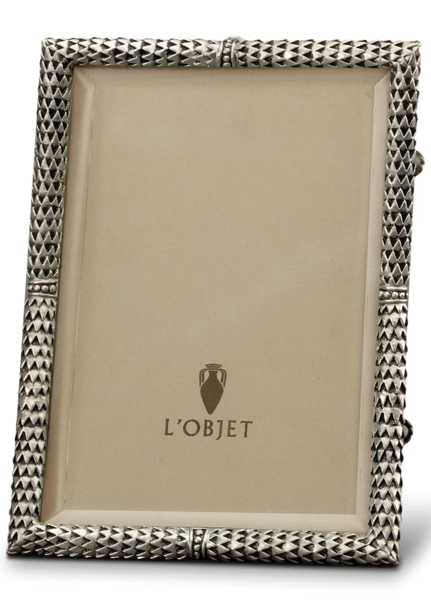 L'Objet Scales Platinum-Plated Picture Frame, 4 x 6