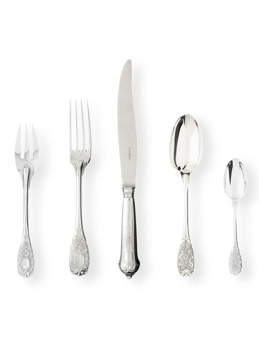 Puiforcat Elysee Sterling Silver Teaspoon Elysse Sterling Silver Salad Fork Elysee Sterling Silver Dinner Fork