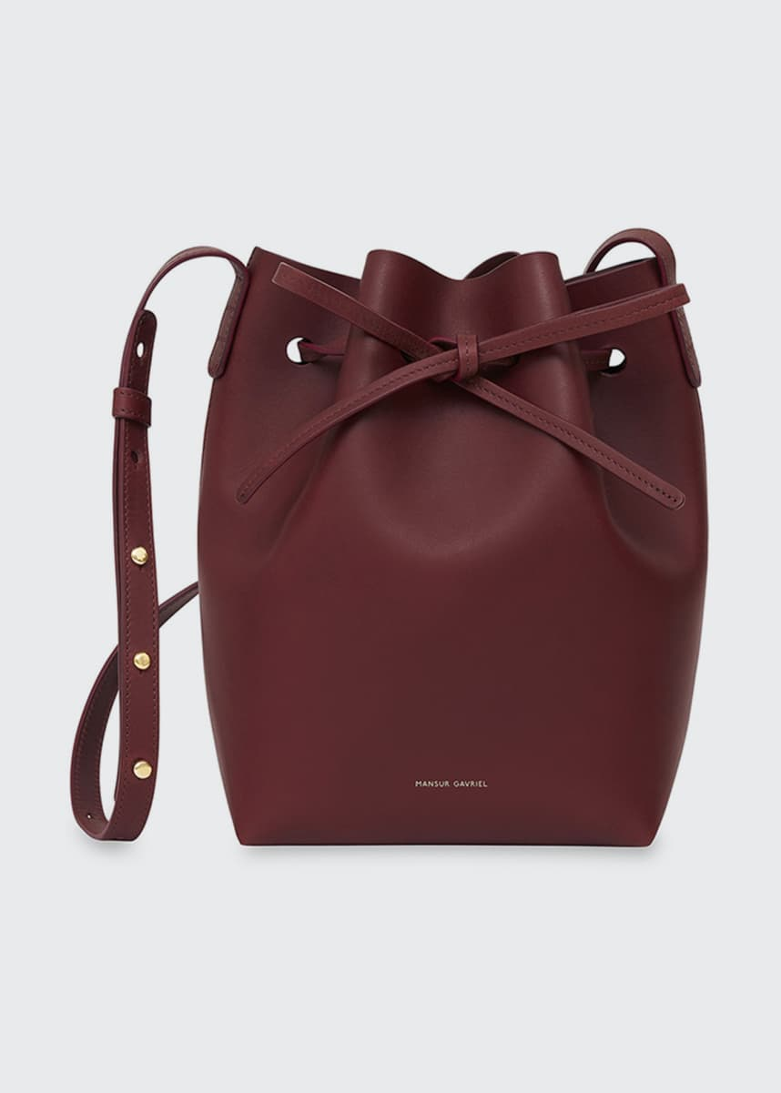 Mansur Gavriel Mini Vegetable-Tanned Leather Bucket Bag