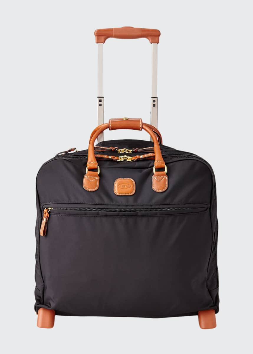 Bric's Black Rolling Pilot Case Luggage