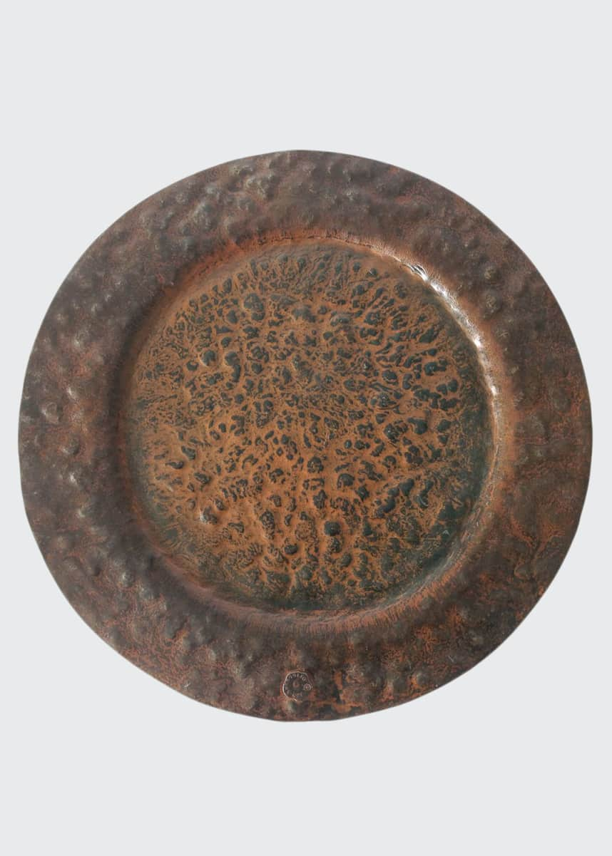 Jan Barboglio Double Hammered Charger Plate