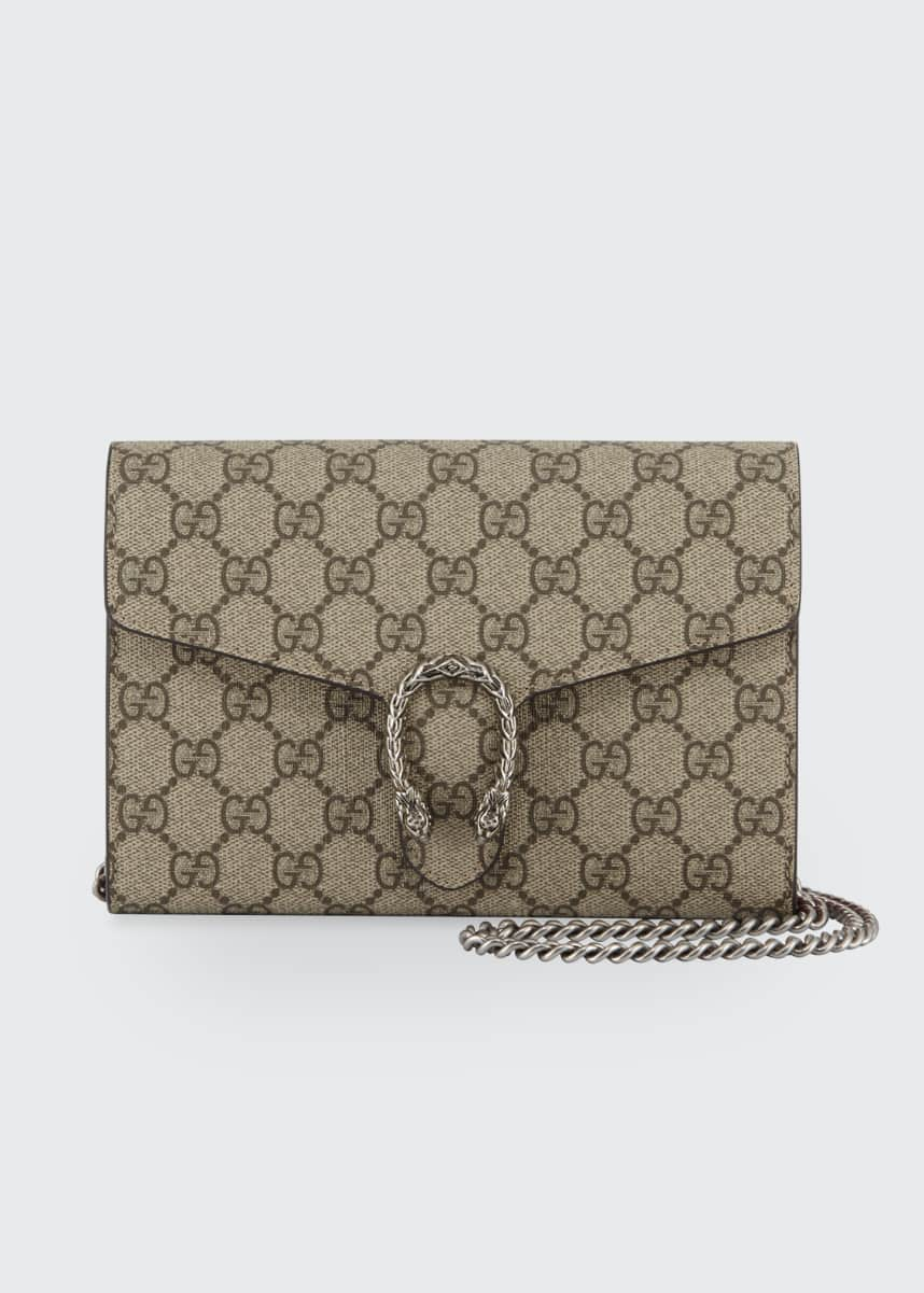 Gucci Dionysus GG Supreme Wallet-on-a-Chain