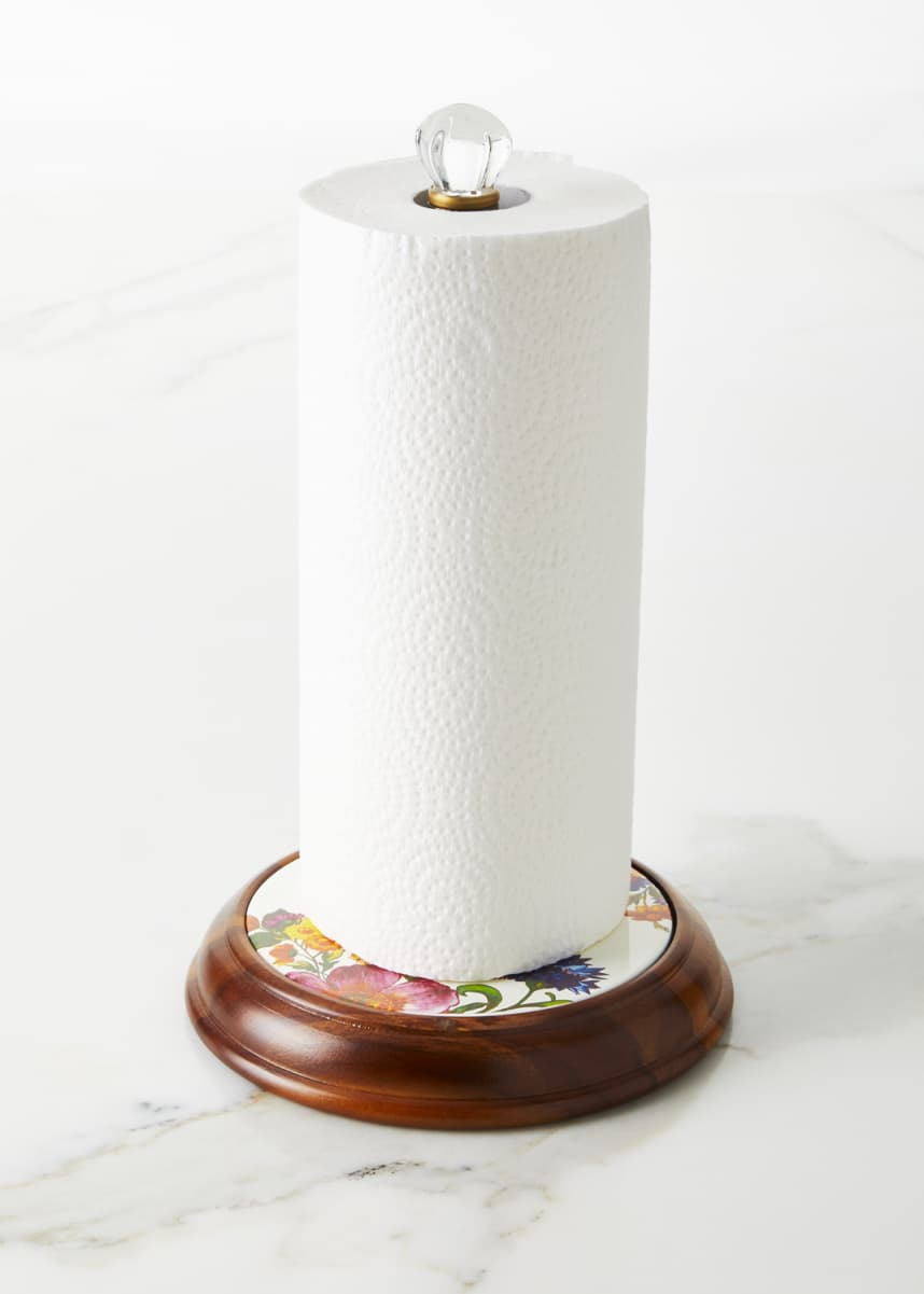 MacKenzie-Childs Flower Market Wood Paper Towel Holder