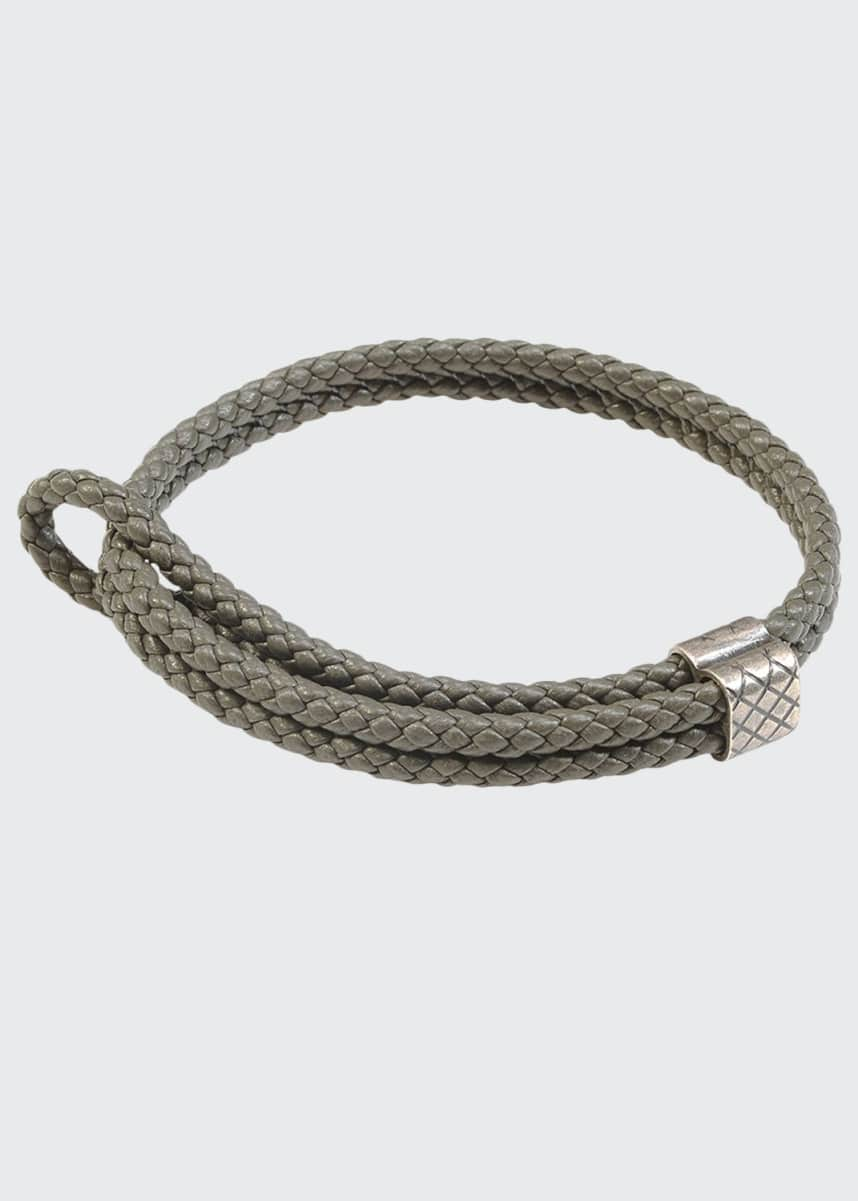 Bottega Veneta Men's Woven Leather Bracelet