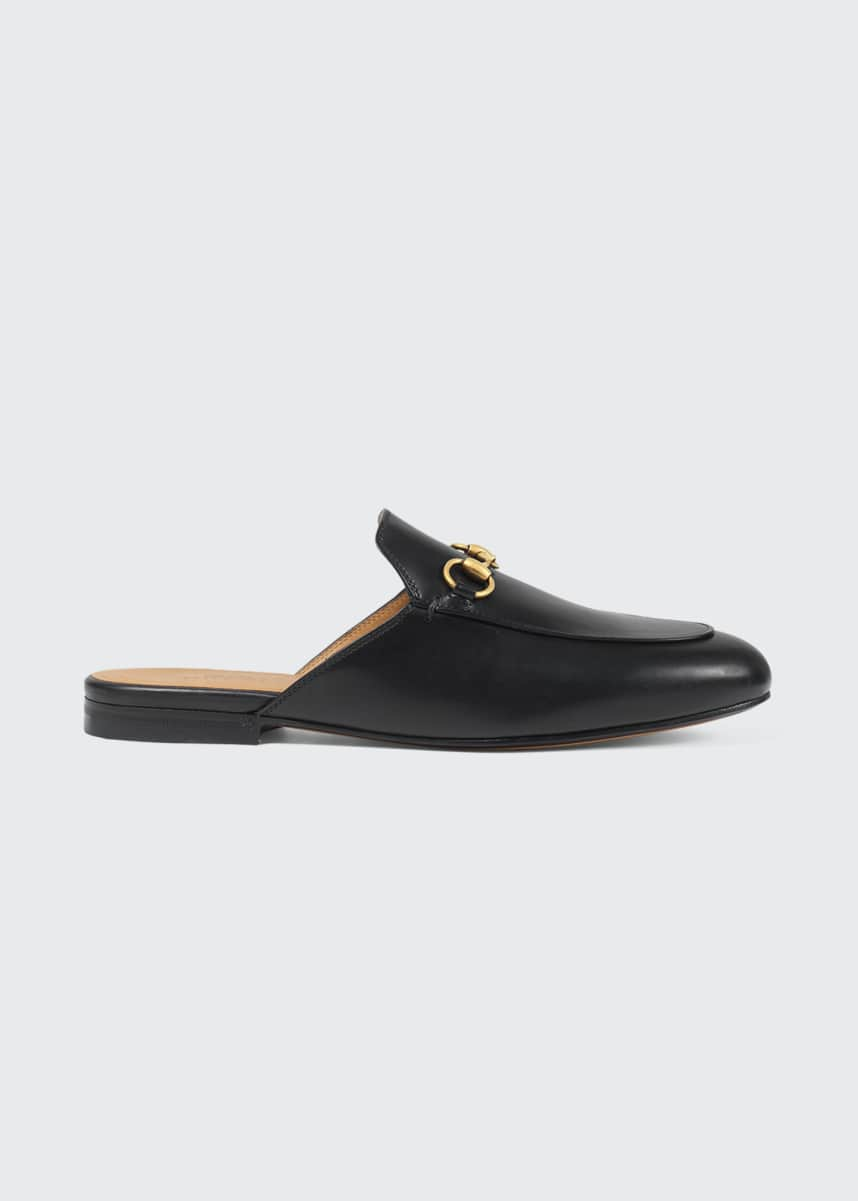 Gucci Princetown Leather Horsebit Mule Slipper Flats