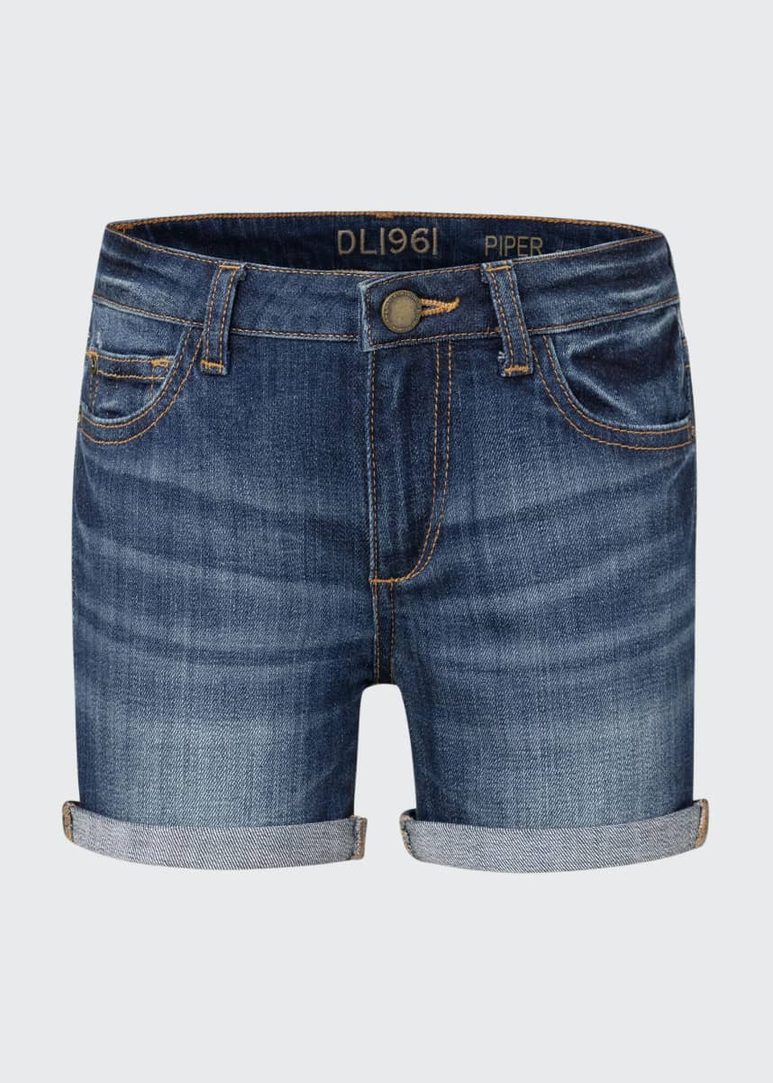 DL1961 Premium Denim Piper Cuffed Denim Shorts, Size 7-16