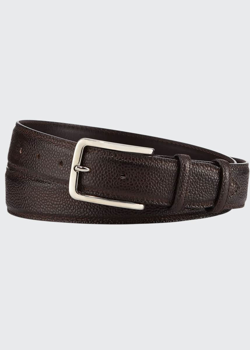 Bontoni 35mm Pebbled Leather Belt