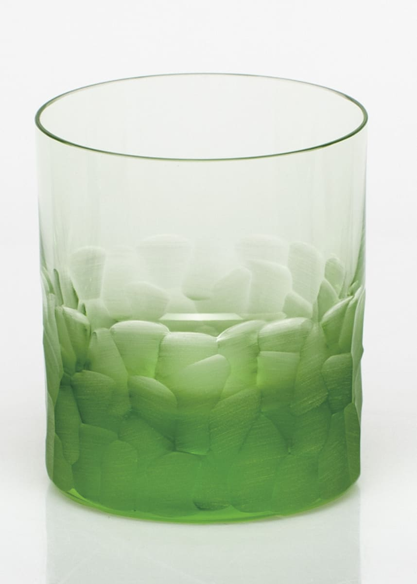 Moser Pebbles Green Double Old-Fashioned