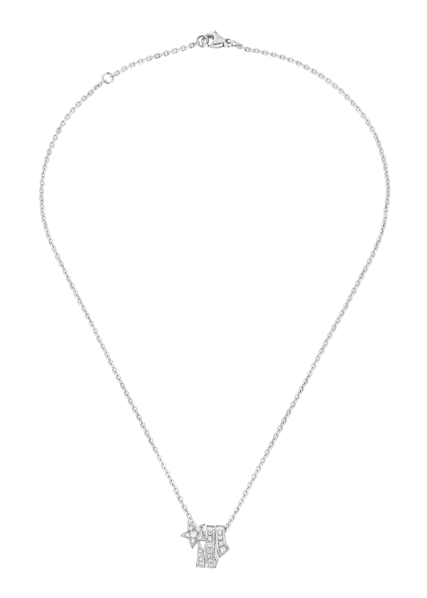 CHANEL COMÈTE Necklace in 18K White Gold with Diamonds