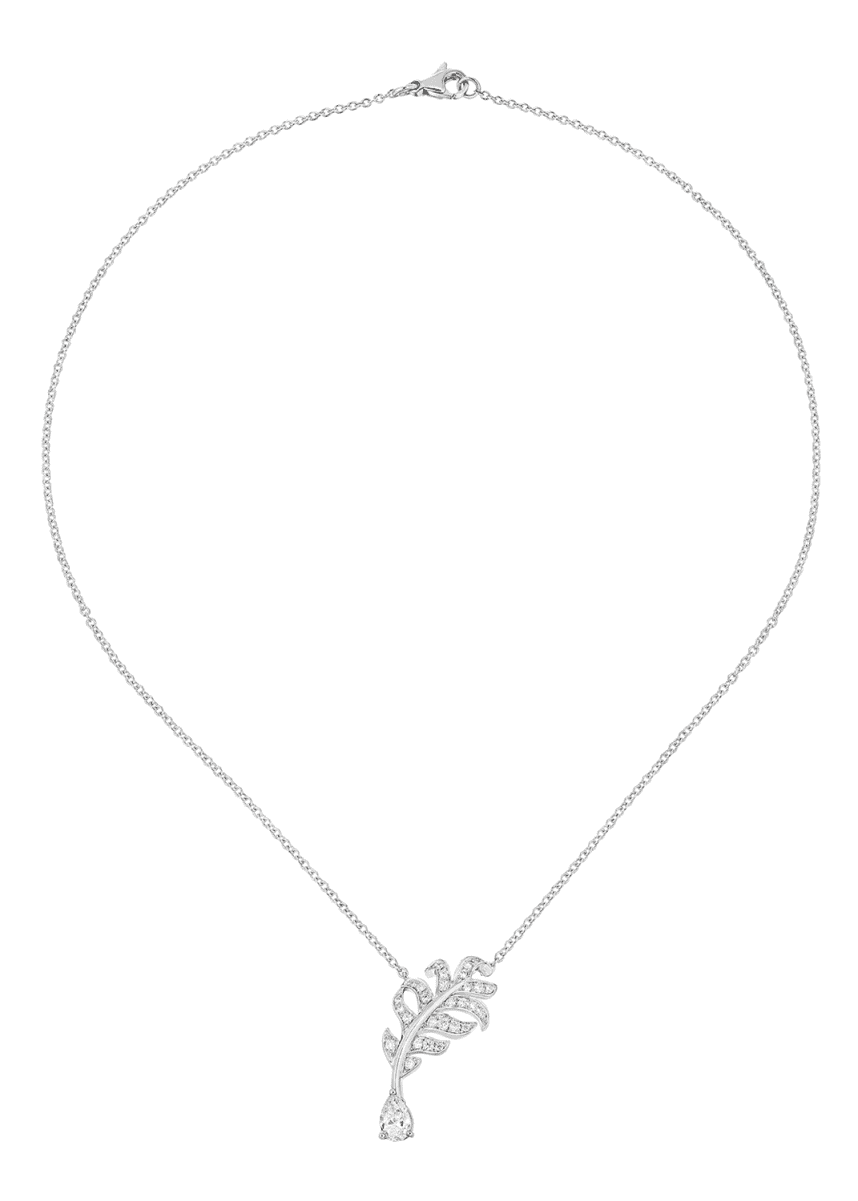 CHANEL PLUME Necklace in 18K White Gold with Diamonds