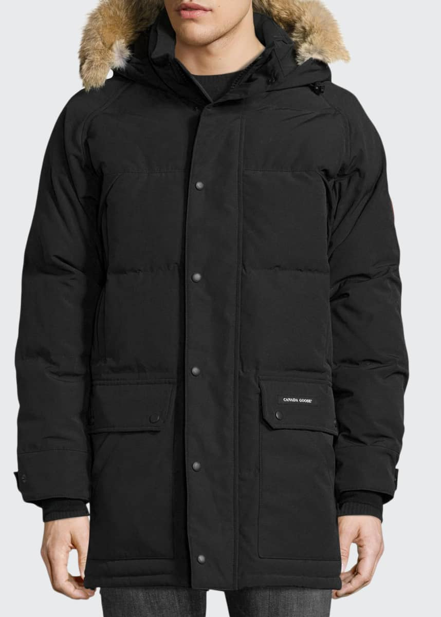 Canada Goose Men's Emory Down Parka with Fur-Trim Hood