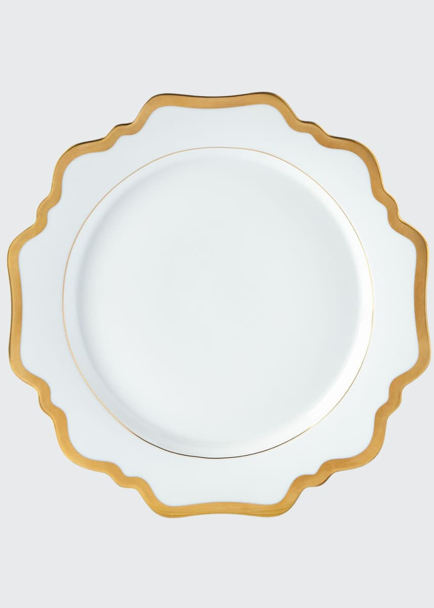 Anna Weatherly Antiqued White Dinner Plate
