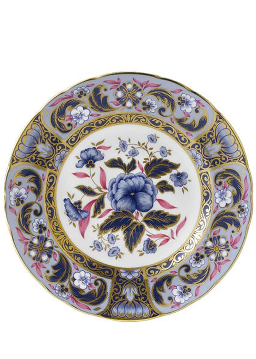 Royal Crown Derby Blue Camellias Accent Plate
