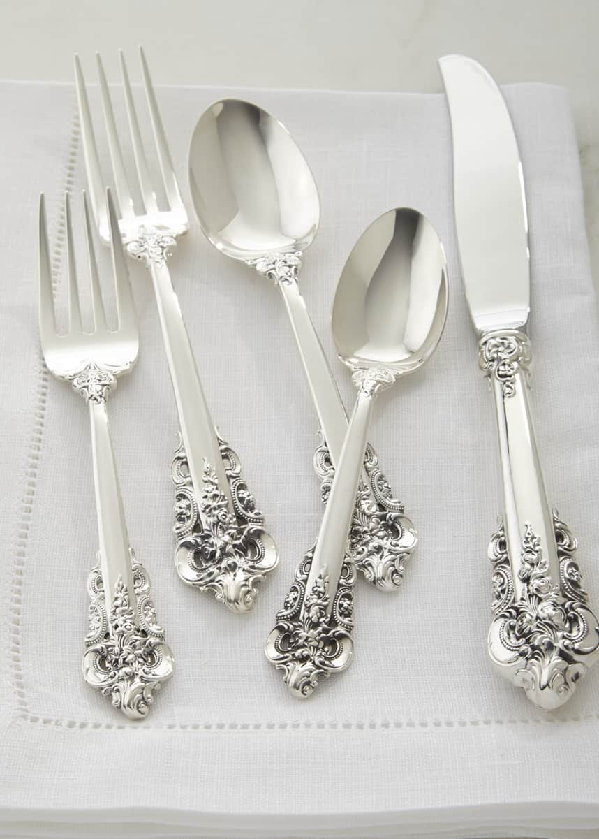 Wallace Silversmiths 78-Piece Grande Baroque 75th Anniversary Flatware Service