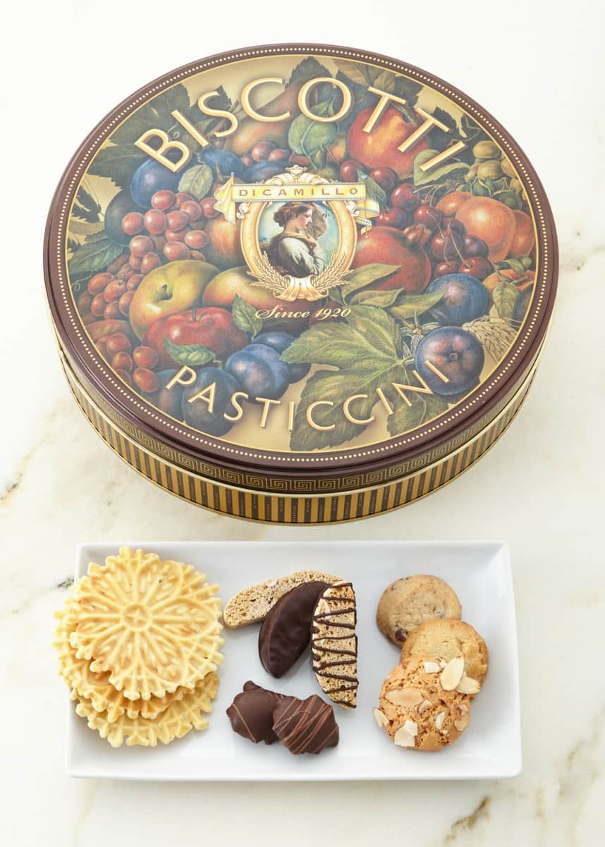 Dicamillo Baking Co Medallion Roma Biscotti Tin