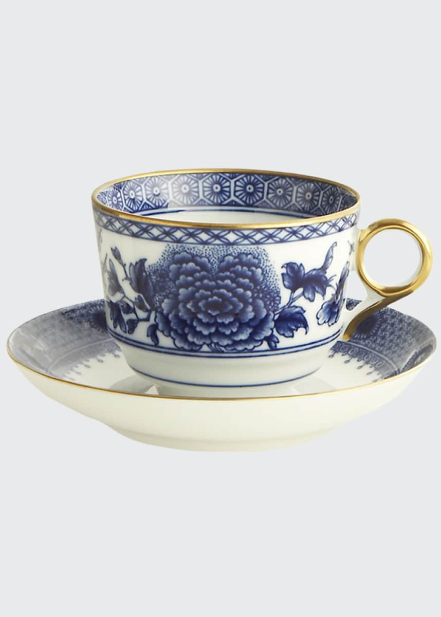 Mottahedeh Imperial Blue Cup & Saucer Set