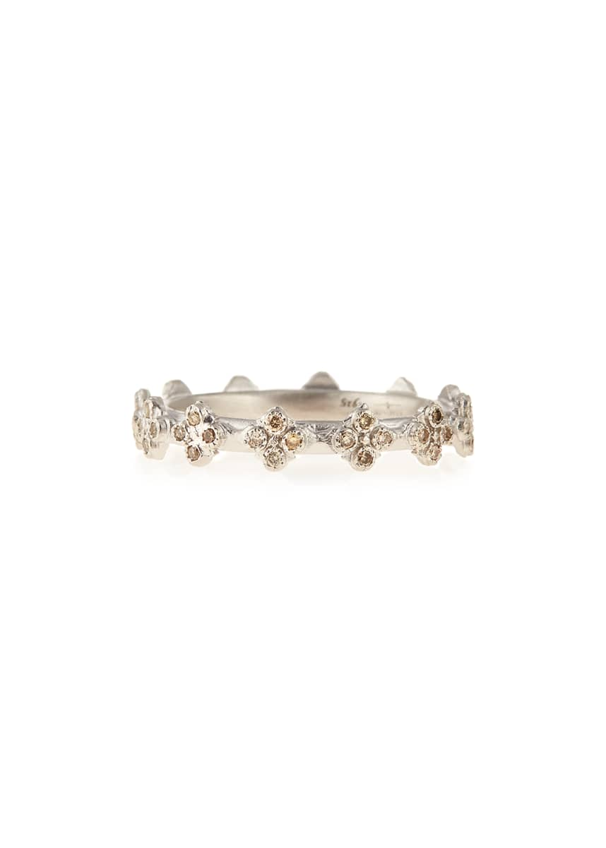 Armenta New World Diamond Crivelli Station Stackable Ring, Size 5-8