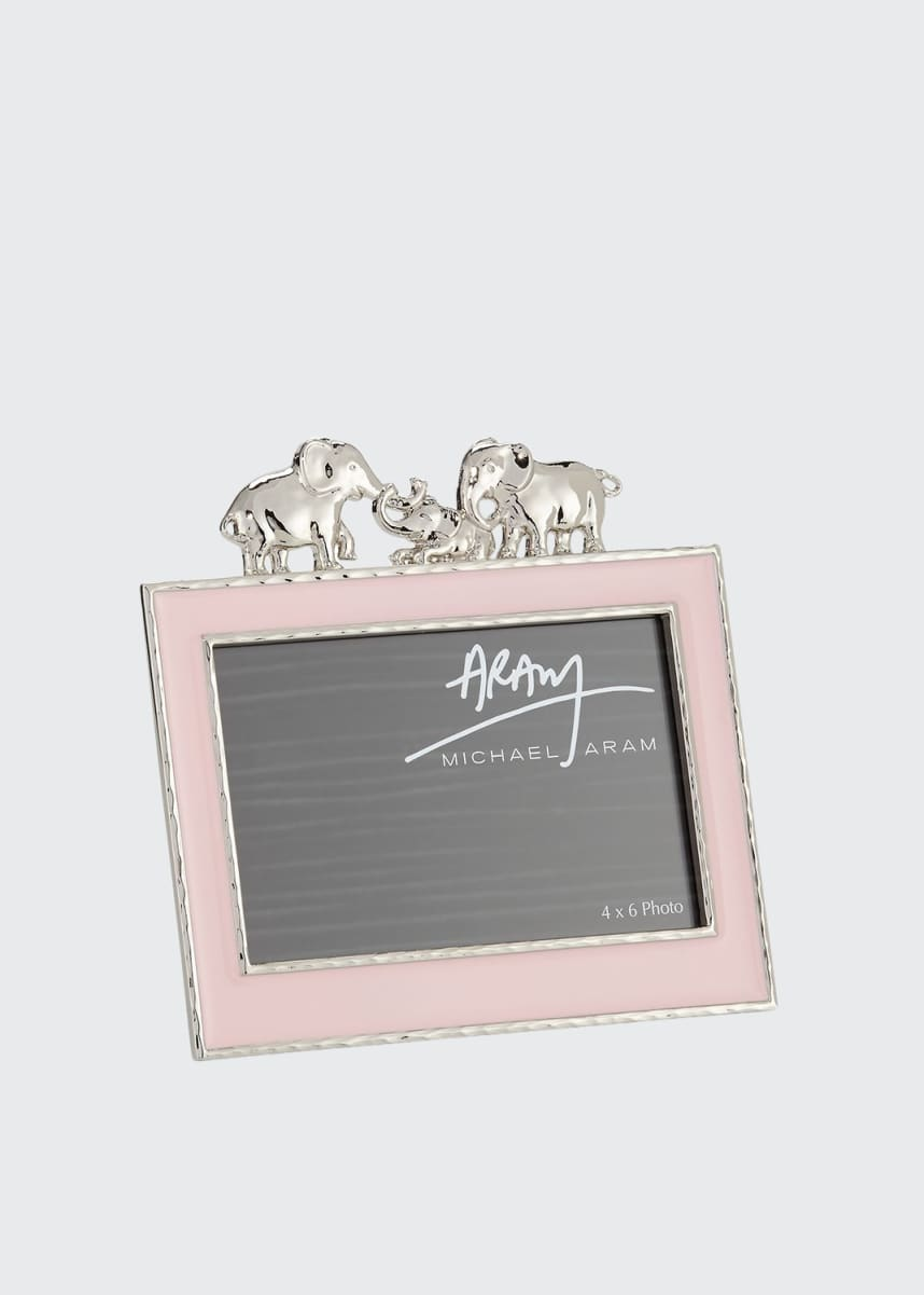 "Michael Aram Girls' Elephant 4"" x 6"" Picture Frame, Pink"
