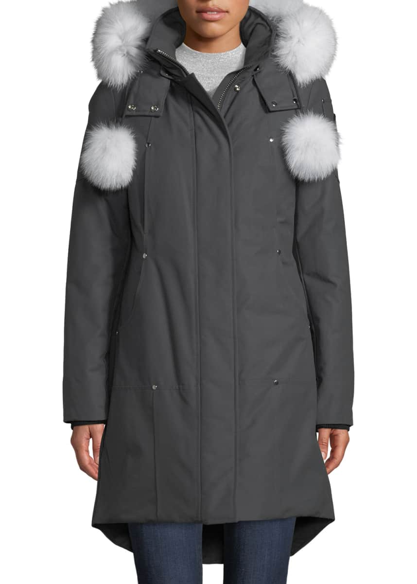 Moose Knuckles Stirling Parka w/ Detachable Hood & Fur Trim