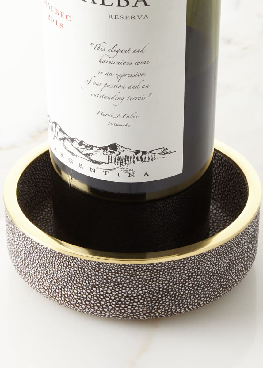 AERIN Faux-Shagreen Wine Coaster