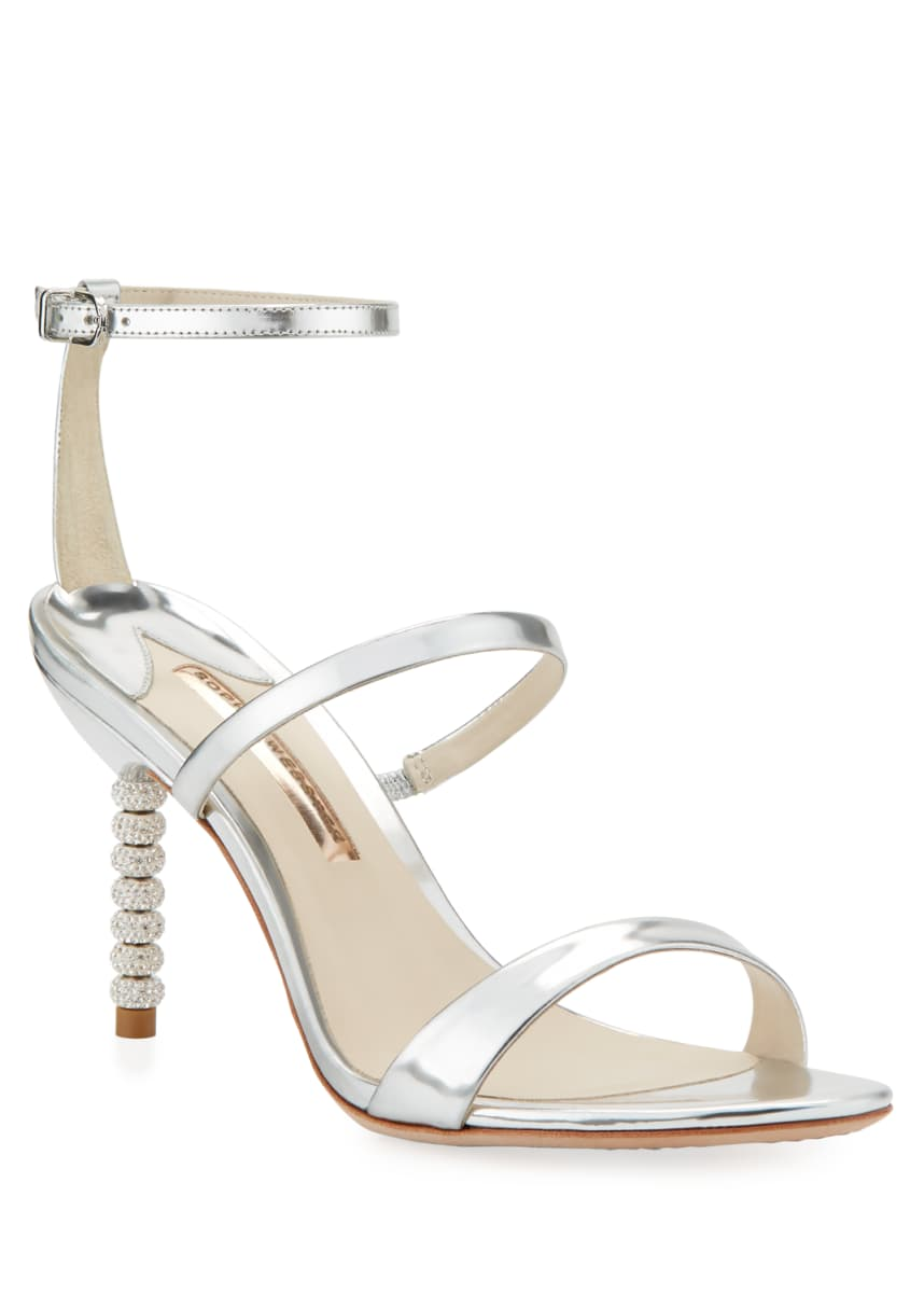 Sophia Webster Rosalind 85mm Metallic Three-Strap Sandals