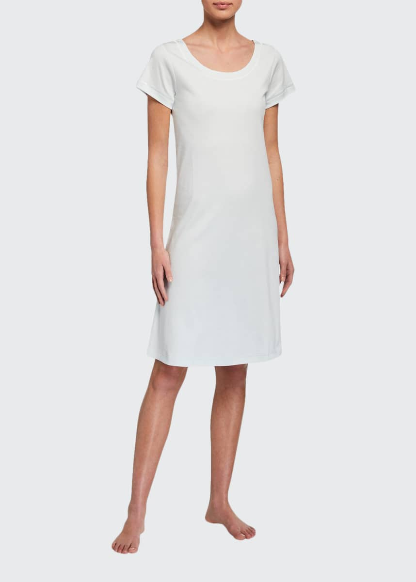P Jamas Butterknit Short-Sleeve Short Gown