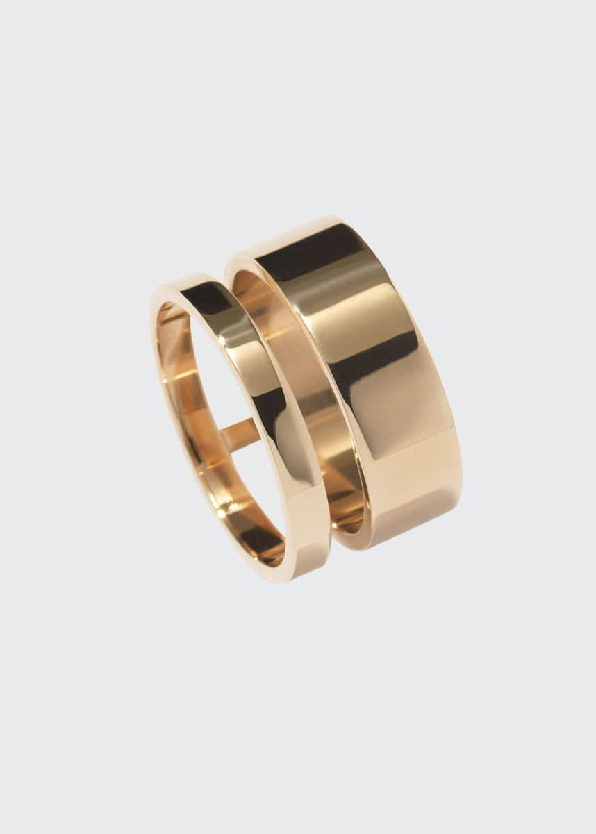 Repossi Berbere Two-Row Band Ring in 18K Gold