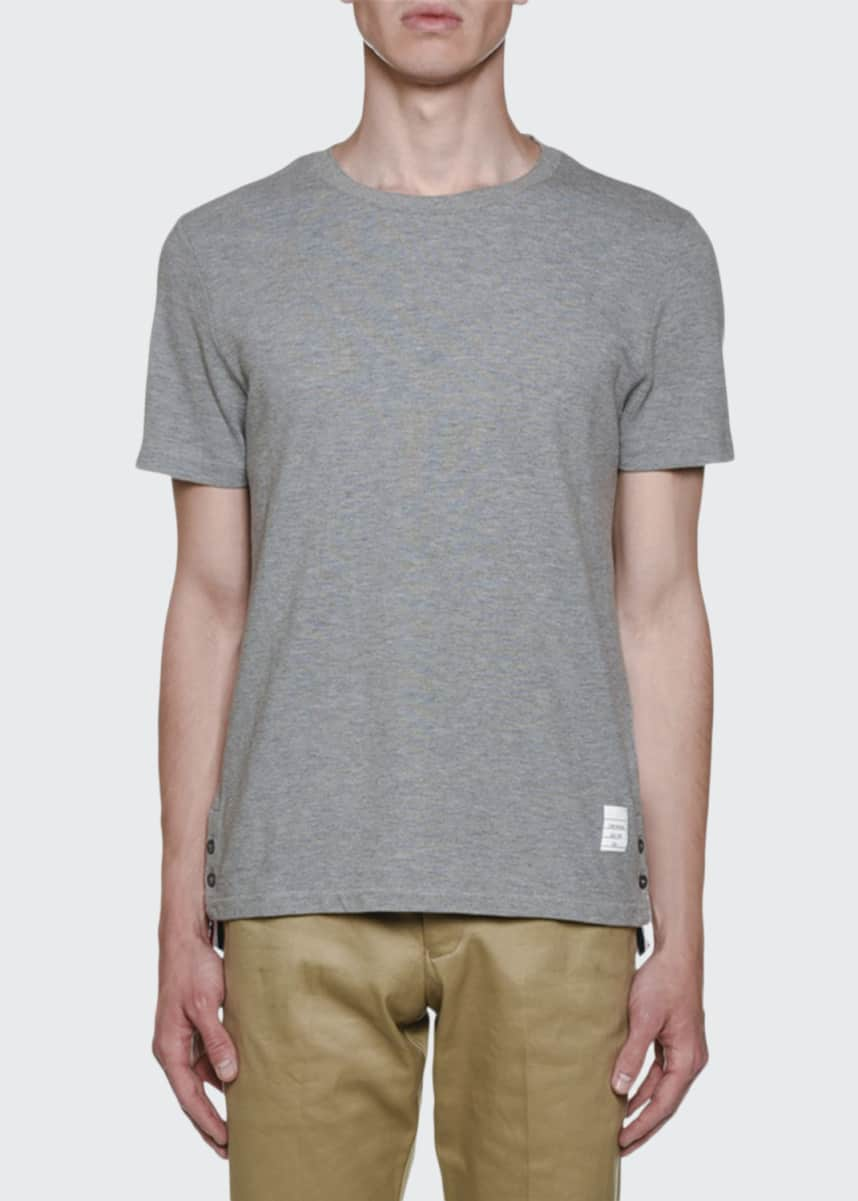 Thom Browne Men's Short-Sleeve Pique T-Shirt