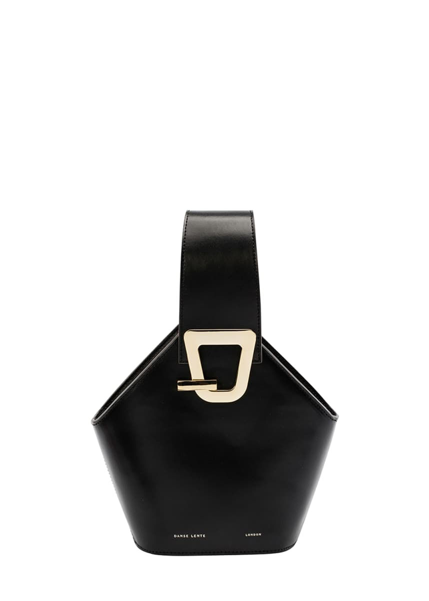 Danse Lente Johnny Mini Leather Hexagon Shoulder Bag